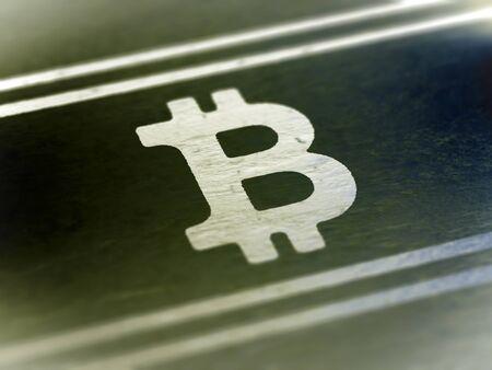Bitcoin icon. Illustration.