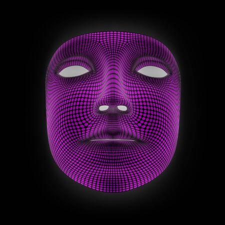 Mask in black background. 3D Illustration.