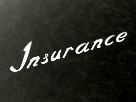 Insurance on a book of a book. Illustration. Zdjęcie Seryjne