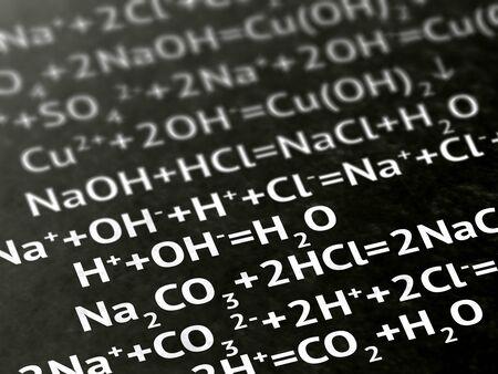 Chemistry on a book of a book. Illustration. Zdjęcie Seryjne