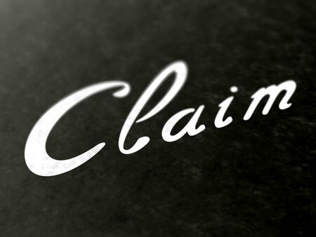 Claim on a book of a book. Illustration.