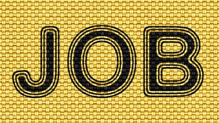Job icon in Texture of Fabric. Illustration. Фото со стока