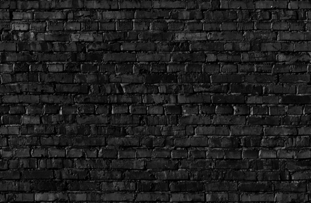Seamless texture of black Brickwall. Stock Photo