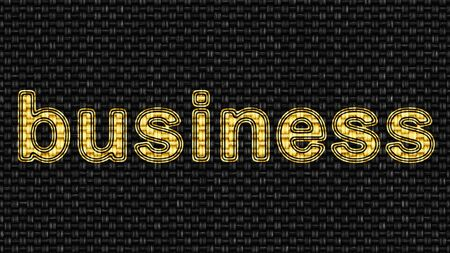 Business icon in Texture of Fabric. Illustration. Stok Fotoğraf