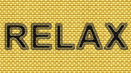 Relax in texture of fabric. Illustration. Stock Photo