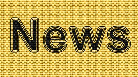 News in texture of fabric. Illustration.