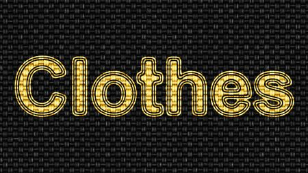 Clothes in texture of fabric. Illustration. Stockfoto