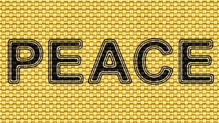 Peace in texture of fabric. Illustration.