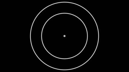Circles in black background. Illustration. Banco de Imagens