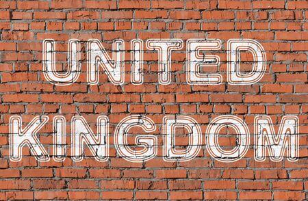 Inited Kingdom. Word on the wall.