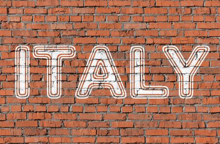 Italy. Word on the wall.