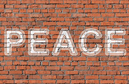 Peace. Word on the wall.