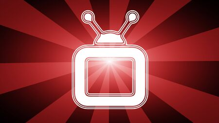 TV icon. Illustration. Banque d'images