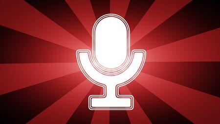 Microphone icon. Illustration.