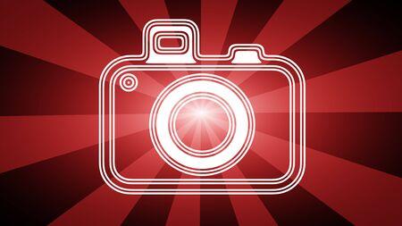 Camera icon. Illustration.