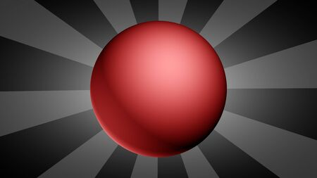 Abstract background with red ball. Illustration.
