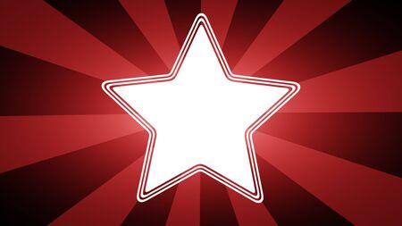 Star icon. Illustration.