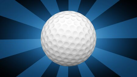 Golfball in blue background. 3D Illustration.