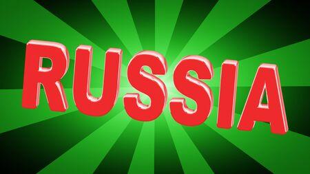 Russia. 3D Illustration. Stockfoto