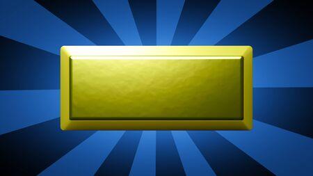 Gold bullion in blue striped background. 3D Illustration.