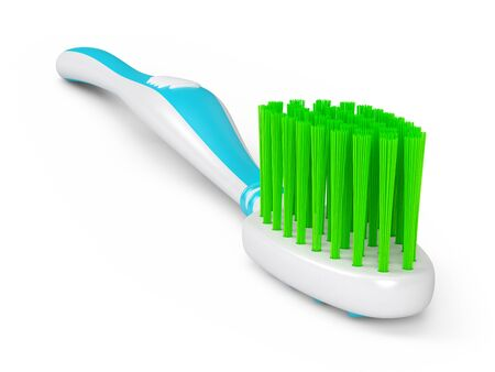 No trademarks. My own design of toothbrush. 3D Illustration. Stockfoto - 134971232