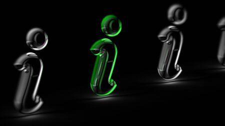 Internet icon in black background. 3D Illustration..