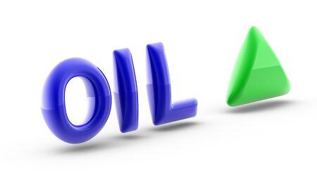 The index up of Oil. 3D Illustration.
