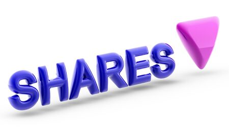 Share is a unit of account for various investments. It often means the stock of a corporation, but also mutual funds, limited partnerships, and real estate investment trusts. 3D Illustration.