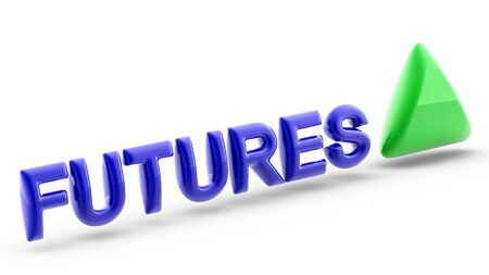 In finance, a futures contract is a standardized forward contract which can be easily traded between parties other than the two initial parties to the contract. 3D Illustration.