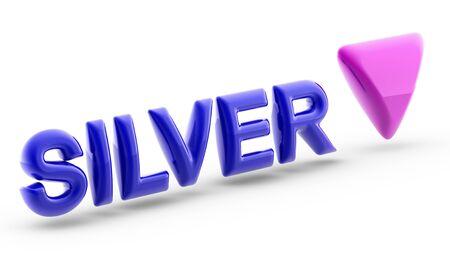 Index of Silver. 3D Illustration. Imagens