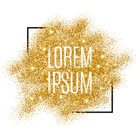 Gold background for  poster, shopping, for sale sign, discount, marketing, selling,  web, header. Abstract golden background for text, type, quote. Gold blur background Illustration