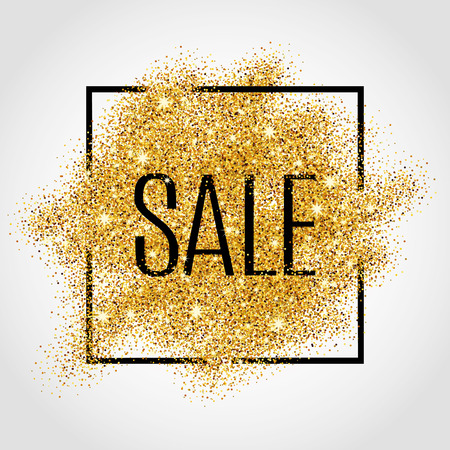 Gold sale background for  poster, shopping, for sale sign, discount, marketing, selling,web, header. Abstract golden background for text, type, quote. Gold blur background