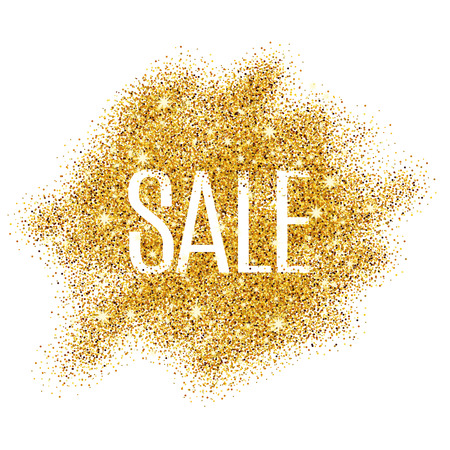 Gold sale background for  poster, shopping, for sale sign, discount, marketing, selling,  web, header. Abstract golden background for text, type, quote. Gold blur background