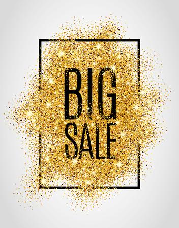 Gold-Verkauf Hintergrund für Poster, Einkaufen, Zeichen für den Verkauf, Rabatt, Marketing, Verkauf, Web, Header. Zusammenfassung goldenen Hintergrund für Text, Art, zu zitieren. Gold-Hintergrund verwischen Standard-Bild - 52579340