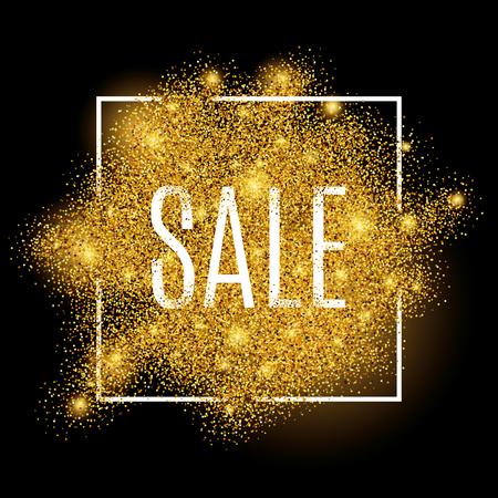 Fonds d'achat d'or pour affiche, achat, signe de vente, réduction, marketing, vente, web, en-tête. Fond d'or abstrait pour le texte, le type, le devis. Fond d'arrière-plan d'or Banque d'images - 52579349