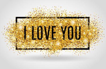love letter: Fondo del día de San Valentín. te quiero. Fondo de oro para f cartel, señal, y la cabecera del Web. Fondo de oro abstracto para el texto, tipo, cita. desenfoque de fondo rojo.