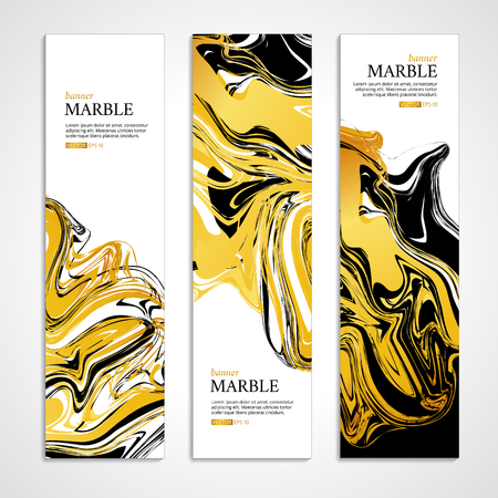 Marble texture banner. Illustration