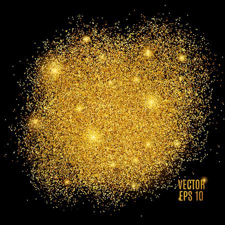 Gold funkelt auf schwarzem Hintergrund. Standard-Bild - 55171417