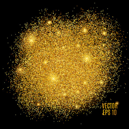 sparkle: Gold sparkles on black background.