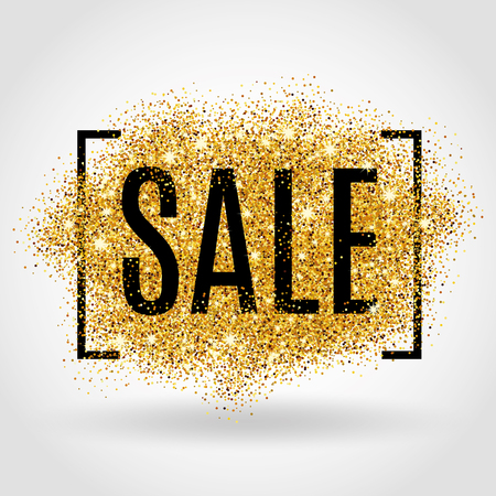 banner design: Gold sale background for flyer, poster, shopping.