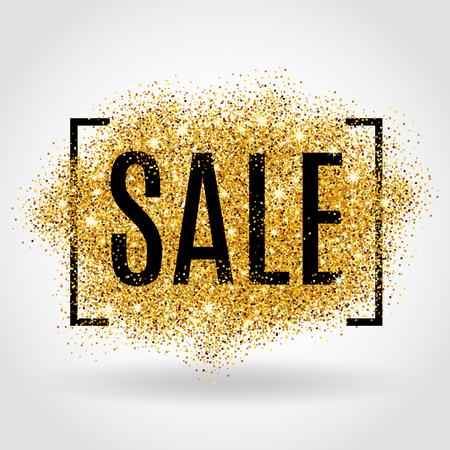 Vente d'or fond pour flyer, affiche, shopping. Banque d'images - 55171810