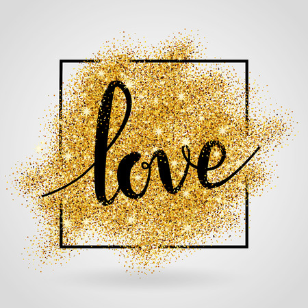 Love gold background.