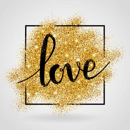 L'amour fond d'or. Banque d'images - 55171841