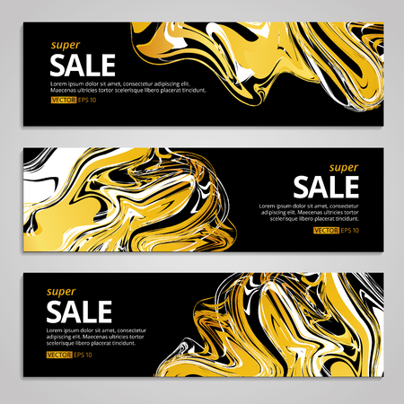 Gold sale background for poster, shopping for sale sign discount, marketing. Liquid gold selling, banner, web header. Marble golden background for text, type, quote. Gold blur background