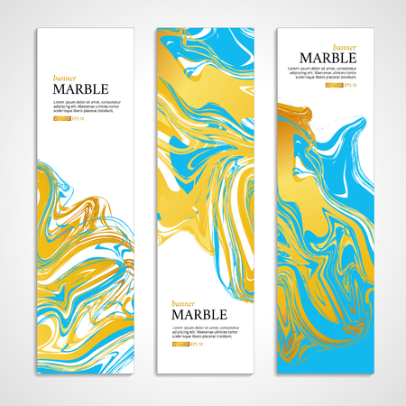 Marble texture banner. Abstract pattern for banner. Marble yellow background, banners. Gold marble. Blue background. Banners for , web, card, vip exclusive certificate, gift luxury voucher. Stok Fotoğraf - 56220416