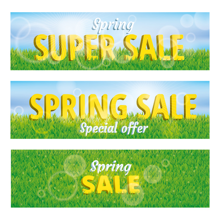 header label: Sale spring green grass texture. Spring sale pattern background. Grass texture background. Grass seamless pattern for web, card vip exclusive certificate, gift luxury voucher.