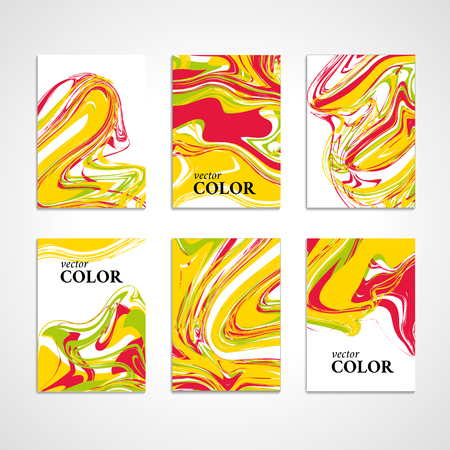 oil paint: Marble texture banner. Abstract pattern for banner. Marble yellow background, banners. Pink marble. Red background. Banners for  web, card, vip exclusive certificate, gift luxury voucher. Illustration