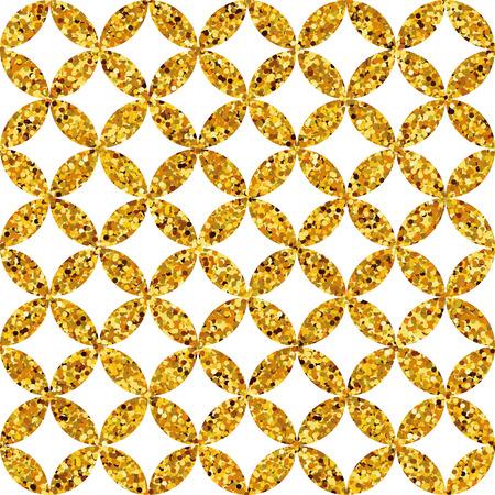 oro geometrico senza soluzione di continuità Glitter Pattern. scintillio dell'oro modello vintage. Felice anno nuovo. disegno geometrico oro, cartolina d'auguri, decorazioni. modello oro sfondo geometrico.