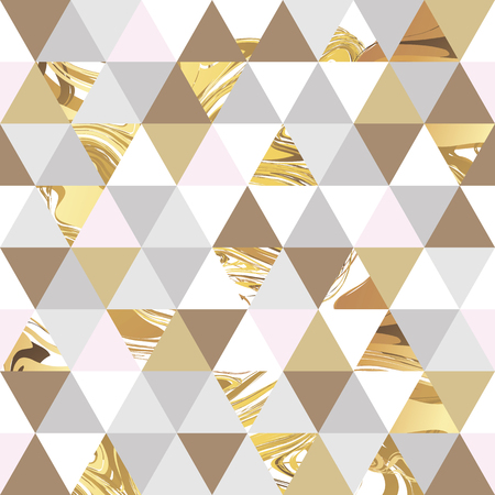 Geometric marble seamless marble gold pattern background. Color geometric background for  poster, marketing, card, web header. Marble golden colorful background
