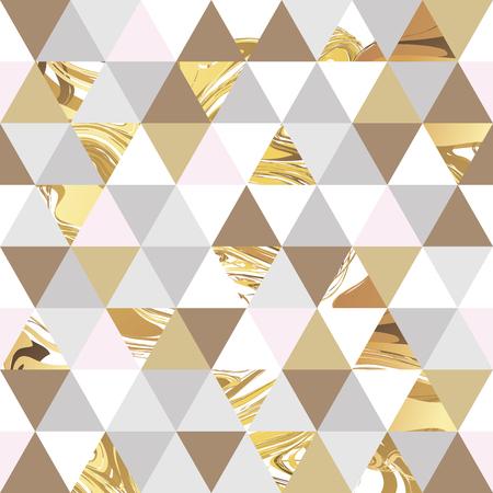Geometryczne marmuru bezszwowe tło wzór marmuru złota. Kolor geometryczne tło plakatu, marketingu, wizytówki, nagłówek WWW. Marmur złoty kolorowe tło